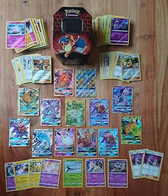 Huge 150+ Hidden Fates Charizard GX, Shiny, Holo Pokemon Card Bundle Joblot