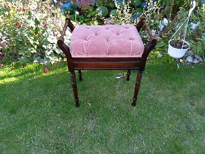 Edwardian piano stool/Dressing Table Stool