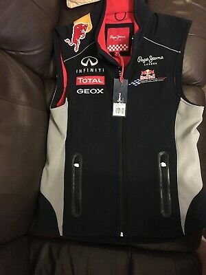 Red Bull Pepe Jeans Soft Shell Gilet Size Medium New