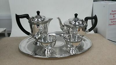 Vintage EPNS Sheffield Silver Plated Coffee/Tea Set With Tray,Sugar Pot,Milk Jug