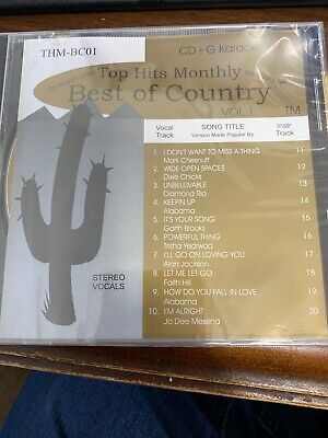 Top Hits Monthly Best Of Country 8 Disks Karaoke
