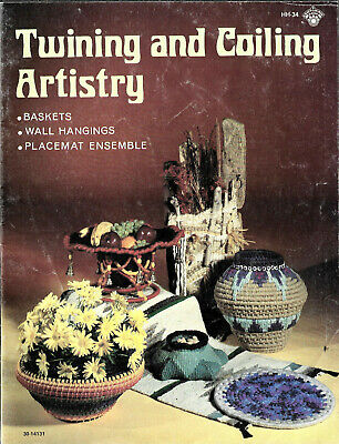 Twining & Coiling Artistry - baskets wall hanging placemats Craft Course book