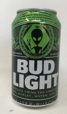 Bud Light Area 51 Green Alien Can/Very Limited Collectors Item/free Shipping/