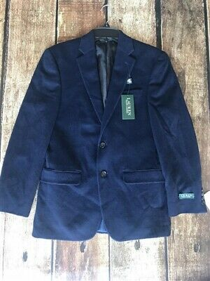 Lauren Ralph Lauren Wool/Cashmere Two Button Sportcoat Blazer Navy Mens 42S New