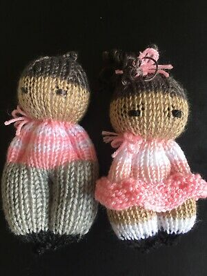 Handmade doll Knitted Baby Toy Rattle