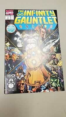 Infinity Gauntlet #1 Marvel 1991 First Print Thanos