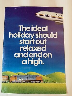VLine & TAA rail/fly Holiday Brochure 1980s (excellent condition)