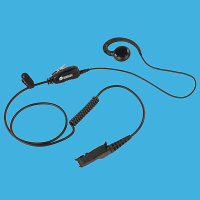 For Motorola MD207R MD200TPR MD200R MC220R Radio Earpiece Headset Curl Wire 1Pin