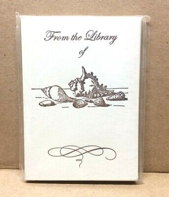 Pack of 25 Letterpress Bookplates Seashells Design Jonathan Wright Company