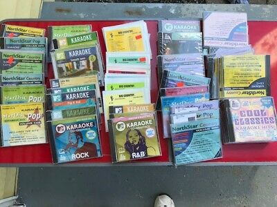 Lot of 50 miscellaneous karaoke CDG, no duplicate disks