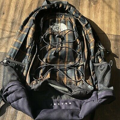 THE NORTH FACE JESTER BACKPACK Plaid Good Condition