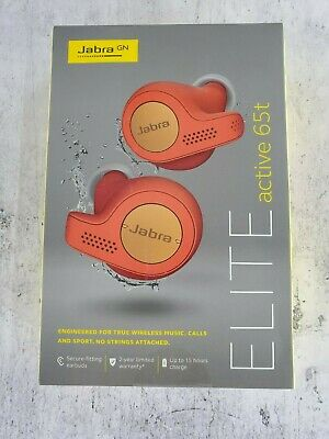 Jabra Elite Active 65t Copper Blue True Wireless Sport Earbuds RED