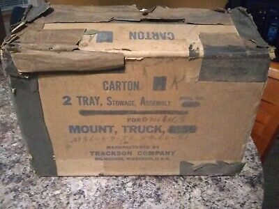 NOS Ord# D7106063 Two Stowage Trays for .50/.30 Ammo Box for M36 Ring CCKW