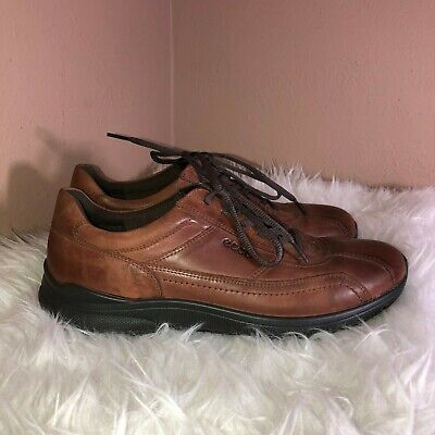 ECCO MENS SHOES model IRVING Lace ups BLUE (MARINE) leather