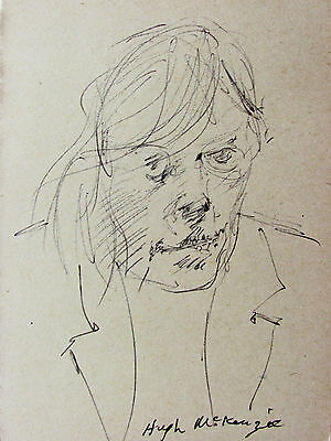 Hugh Mckenzie - Two (2) Portrait Drawings Of Men - Free Ship In Us  !!!