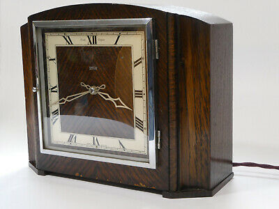 Smith Empire Westminster Chime synchronous Mantle Clock c1936