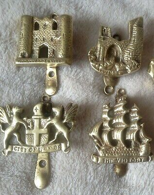 5 X Solid Brass door knockers and 17 numbers for sale
