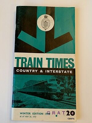 Victorian Railways / VicRail 1975 Winter Timetable Country & Interstate Services