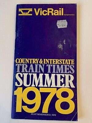 Victorian Railways / VicRail 1978 Summer Timetable Country & Interstate Services