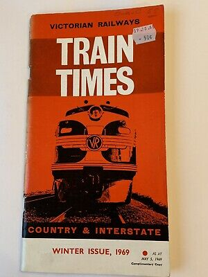 Victorian Railways / VicRail 1969 Winter Timetable Country & Interstate Services