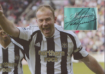 ALAN SHEARER Signed 12x8 Photo Display NEWCASTLE UTD & ENGLAND Legend COA