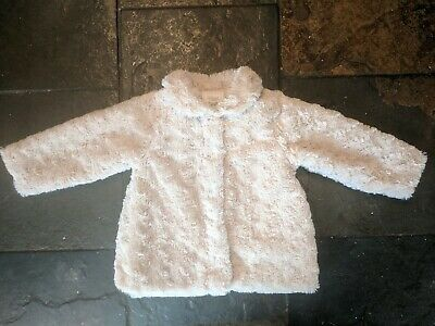 Beautiful Spanish Girls Mayoral Faux Fur Winter Coat Age 12 Months