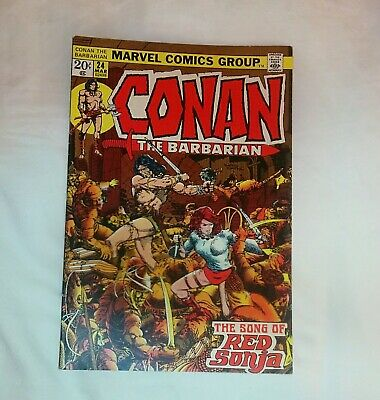 Conan the Barbarian #24 F/VF 7.0 Barry Smith art 2nd app Red Sonja