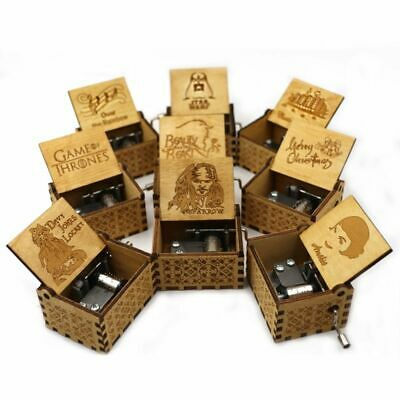 Star Wars power game music box theme birthday gift Bohemian Rhapsody Wooden New