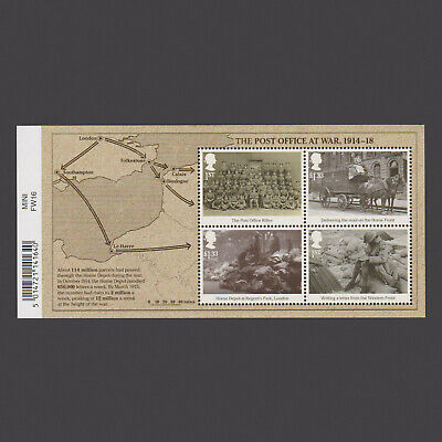 2016 The Great War (WW1) 1916 Miniature Sheet with Barcode
