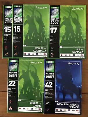 Rugby World Cup 2007, 4 Official Programmes