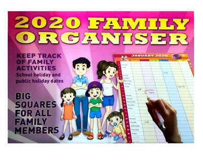 2020 Calendar Rectangle Wall Calendar 16 Months Calendar-Family Organiser
