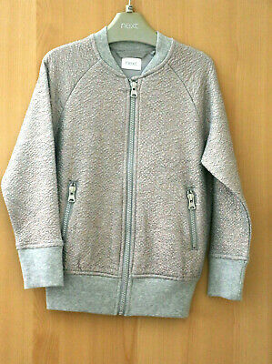 Next Girls Grey Zip Front Lined Jacket Age 5 Years BNWT Tag £20