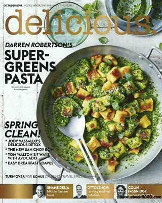 Delicious Magazine October 2019 Issue 198 DARREN ROBERTSON'S SUPER-GREENS PASTA