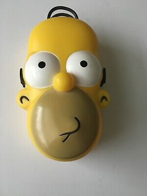 Collectible The Simpsons Uno Card Game With RARE Homer Simpson Head Case 2008