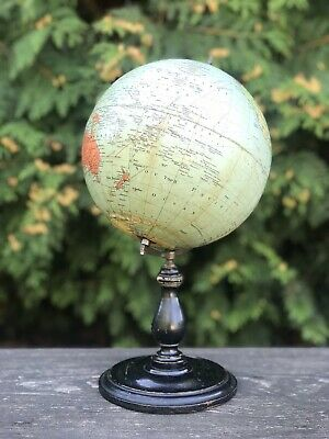 Antiker Alter Erdglobus Globus Philips British Empire Globe um 1920