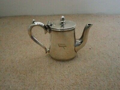 Vintage Mappin and Webb silver plate lidded 1/4 pint hot water jug