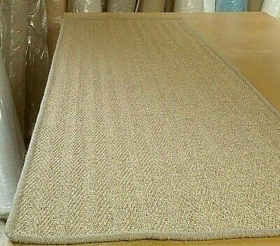SISAL ECO FRIENDLY NATURAL WHIPPED MAT CARPET RUG/RUNNER 66cm x 197cm RRP £125