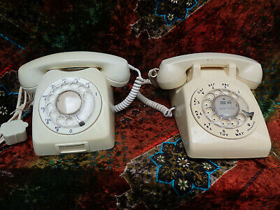 Lot of 2VTG Telephone Ericsson LM rotary dial (SWEDEN) + Western Electric 500 DM