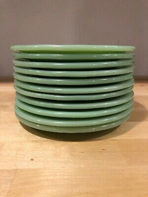"Fire King Jade-Ite Jadite Green ""Restaurant"" Pie Or Salad Plate 6 3/4"