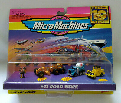 1996 galoob MICRO MACHINES #23 ROAD WORK 75030 MicroMachines