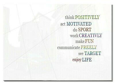 194 Motivation Enjoy Life Self-improvement Fun Positive Inspiration Wall Poster