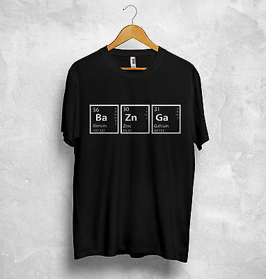 Bazinga T Shirt Periodic Table Big Bang Theory Sheldon Cooper Number 73