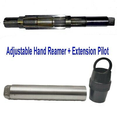 """H14 Adjustable Hand Reamer 1-11/32"""" to 1-1/2"""" (34.13- 38.10mm) & Extension Pilot"""