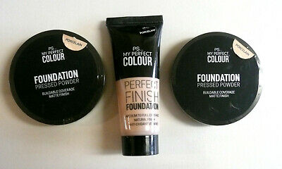 Brand New Primark PS My Perfect Porcelain Foundation + 2 x Pressed Powder
