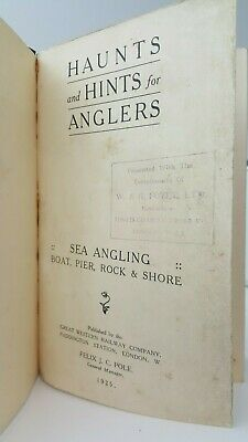 Haunts and Hints for Anglers Sea Angling Great Western Railway Company book 1925