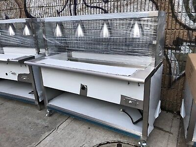 """All Stainless Steel Steam Table 60"""" Electric W/Lighted Sneeze Guard 208V 1PH NSF"""