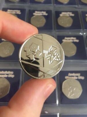 London 2012 Olympic 50p Completer Medallion Coin Hunt 1st Class Postage