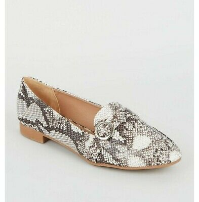 New look Snakeskin  Loafers wide fit size 7