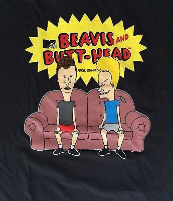 BEAVIS AND BUTTHEAD T-Shirt Couch Heads Classic MTV Logo New Authentic S-2XL