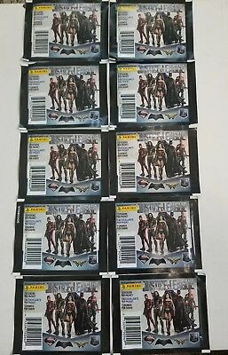 Panini Justice League Movie 10 pack sticker lot 70 stickers in all unopened!!!!